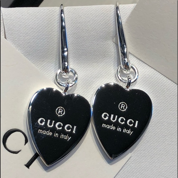 3bed7e29d Gucci Jewelry | Nwt Sterling Silver Trademark Heart Earrings | Poshmark